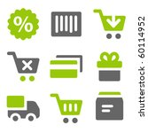 on line shopping web icons ... | Shutterstock .eps vector #60114952