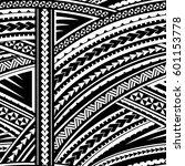 maori style sleeve tattoo... | Shutterstock .eps vector #601153778