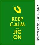 keep calm banner for st.... | Shutterstock .eps vector #601165325