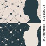 silhouette of a man's head.... | Shutterstock .eps vector #601165775