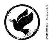vector dove symbol. isolated...   Shutterstock .eps vector #601170578