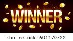 winner casino banner with... | Shutterstock .eps vector #601170722
