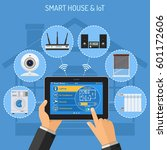 smart house and internet of... | Shutterstock .eps vector #601172606