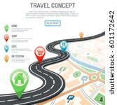 travel and navigation concept... | Shutterstock .eps vector #601172642