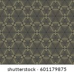 geometric pattern in floral... | Shutterstock .eps vector #601179875