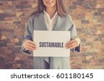 sustainable concept | Shutterstock . vector #601180145