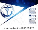2d illustration health care and ... | Shutterstock . vector #601185176