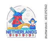 netherlands   modern vector...