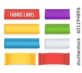 color label fabric blank vector.... | Shutterstock .eps vector #601194896