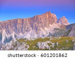 Purple Light Above Steep Rock...