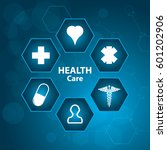 abstract medical background .... | Shutterstock .eps vector #601202906