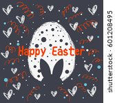 postcard to easter. banner or...   Shutterstock .eps vector #601208495
