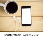 blank screen smart phone with... | Shutterstock . vector #601217912