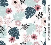 beautiful seamless pattern with ... | Shutterstock .eps vector #601229846