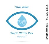 Water Drop With Human Eye Icon...