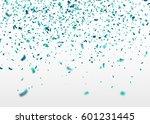 blue confetti falling randomly. ... | Shutterstock .eps vector #601231445