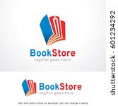 book store logo template design ... | Shutterstock .eps vector #601234292