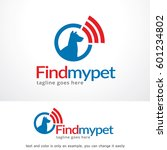 find my pet logo template... | Shutterstock .eps vector #601234802