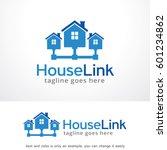 house link logo template design ... | Shutterstock .eps vector #601234862
