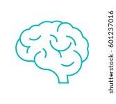 brain icon flat. | Shutterstock .eps vector #601237016
