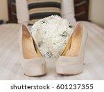 closeup detail of bridal high... | Shutterstock . vector #601237355
