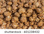 chocolate caramel popcorn close ... | Shutterstock . vector #601238432