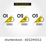 yellow arc infographic options... | Shutterstock .eps vector #601244312