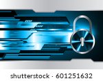 safety concept  closed padlock...   Shutterstock .eps vector #601251632