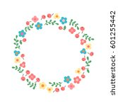 decorative floral wreath. frame ... | Shutterstock .eps vector #601255442