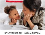 optimistic engaging lady... | Shutterstock . vector #601258982