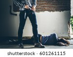sexual abuse with a terrorist... | Shutterstock . vector #601261115