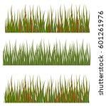 green grass borders set nature... | Shutterstock .eps vector #601261976