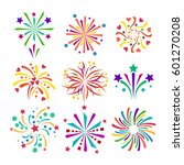 firework vector icon isolated... | Shutterstock .eps vector #601270208