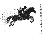 vector illustration with horse... | Shutterstock .eps vector #601280096
