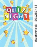 quiz night poster leaflet  ... | Shutterstock . vector #601283465