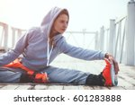 fitness sport girl in fashion... | Shutterstock . vector #601283888