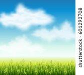 vector illustration of summer... | Shutterstock .eps vector #601292708