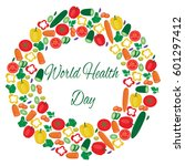 world health day illustration... | Shutterstock .eps vector #601297412