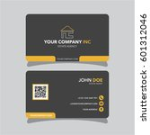 real estate agent business card ... | Shutterstock .eps vector #601312046