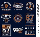 college athletics typography... | Shutterstock .eps vector #601314245