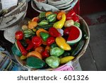 Color basket - stock photo