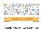 line web banner for public... | Shutterstock .eps vector #601334858