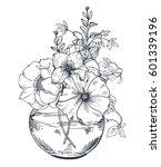 floral composition. bouquets... | Shutterstock .eps vector #601339196