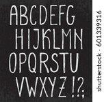 vector alphabet with grunge...   Shutterstock .eps vector #601339316