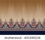 seamless paisley border   Shutterstock . vector #601340126