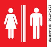 toilet sign man and lady  ... | Shutterstock .eps vector #601342625