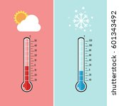 flat design of thermometer...   Shutterstock .eps vector #601343492