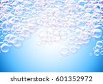 soap bubbles blue background... | Shutterstock .eps vector #601352972