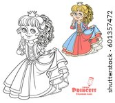lovely princess color and... | Shutterstock .eps vector #601357472