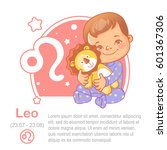 children's horoscope icon. kids ... | Shutterstock .eps vector #601367306